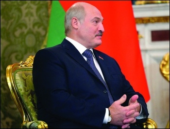 Belarus strongman president Lukashenko has been feeling the hot breath of workers' opposition in recent weeks photo kremlin.ru/CC