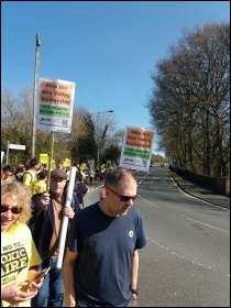 Bradford march against incinerator photo Bradford Socialist Party