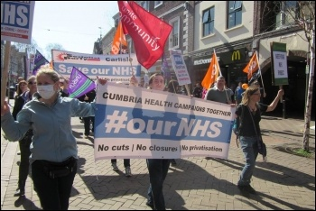 Carlisle save our NHS march 8 April 2017 photo Brent Kennedy, photo Brent Kennedy