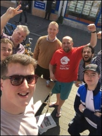 Some of Cardiff TUSC's council candidates photo Callum Glanville-Ellis