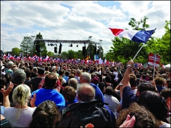 The huge crowd at Melenchon's rally in Toulouse photo Terry Adams
