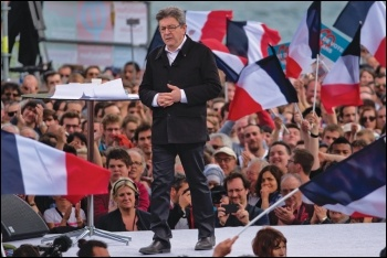 Mélenchon narrowly missed making the second round - but his rapid swell in the polls beforehand shows great potential for the left, photo by MathieuMD (Creative Commons)