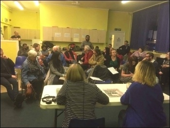 Waltham Forest Socialist Party meeting 4.5.17, photo by Paula Mitchell