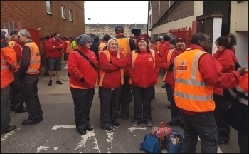 Royal Mail workers' walkout, 8.5.17, photo by E Mids CWU
