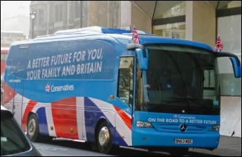 The Tory election fraud charges centre on expenses for activists on their 2015 battle bus, photo by Nic Gould (Creative Commons)