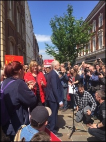 Jeremy Corbyn in Worcester, May 2017, photo by Worcester SP