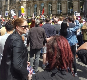 Some of the 1,000-strong counter-demonstration against the EDL in Liverpool, 3.6.17, photo by Liverpool Socialist Party