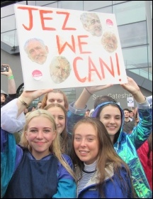 Newcastle Corbyn rally, June 2017, photo E. Brunskill