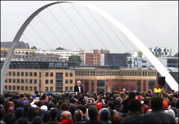 Jeremy Corbyn rally in Gateshead, June 2017, photo by Nick Fray