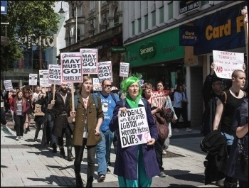Cardiff demo, 10.6.17, photo by Taz Winkel-Opleier