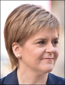 Nicola Sturgeon's SNP lost votes after failing to deliver on anti-austerity rhetoric - the Tories were the biggest gainers, followed by Corbyn's Labour, photo by Kenneth Halley/CC