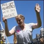Demonstrating  in London, 10.6.17, photo Paul Mattsson