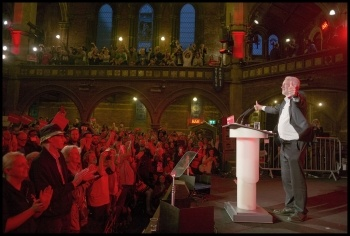 Jeremy Corbyn's 'homecoming' election rally in Islington, 8.6.17, photo Paul Mattsson