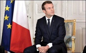 Anti-worker French president Emmanuel Macron, photo by kremlin.ru/CC