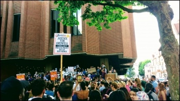 Outside Kensington town hall, 16.6.17, photo James Ivens