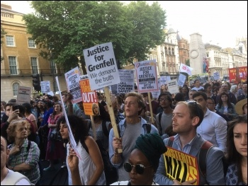 Marching round central London, from the Dept for Communities and Local Government to Downing St and on, photo by Paula Mitchell