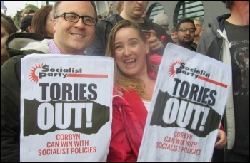 Tories Out SP placards