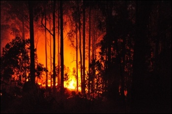 A 2011 forest fire in Portugal photo Anagh/CC