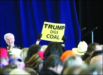 The billionaire bigot has ripped-up environmental protection to satisfy the profit-hungry fossil-fuel industry photo Tammy Anthony Baker/CC