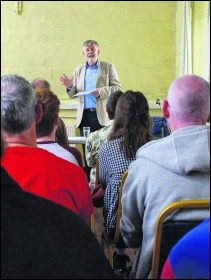 Former socialist Labour MP, Dave Nellist, spoke at the meeting photo Andy McQuillan