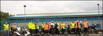 Tyseley bin depot, Birmingham, 30.6.17, photo by Bob S