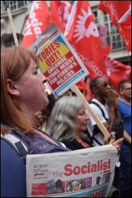 PA anti-austerity demo 1.7.17, photo Mary Finch