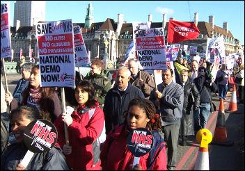 NHS demonstration, 1 November 2006, photo Alison Hill