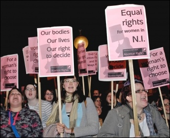 Fighting for abortion rights, photo Paul Mattsson
