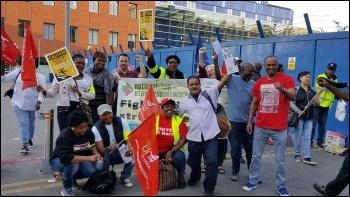 London hospital, Barts trust strike July 2017, photo by Amaliah