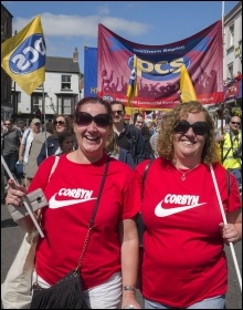 At Durham MIners Gala, July 2017, photo Paul Mattsson