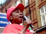 Unite Barts NHS cleaners and porters strike demo July 15