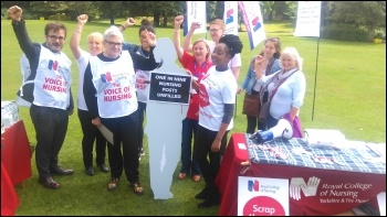 RCN protest in Sheffield, 27.7.17, photo A Tice