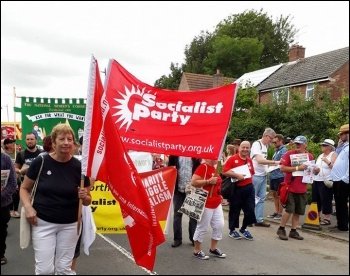 Tolpuddle march, July 2017, photo by Kevin Hayes