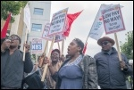 Barts NHS workers on strike, 15.7.17, photo Paul Mattsson