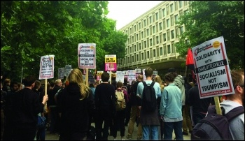 London Charlottesville protest 15 August 2017, photo Helen Pattison