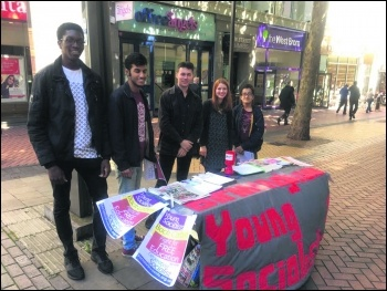 West Midlands Young Socialists, photo Lenny Shail