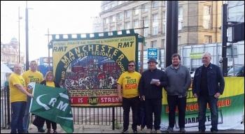 Arriva Rail North strike, Manchester, 1.9.17, photo by Becci Heagney