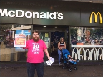 Swansea: supporting the McDonald's strike, 2.9.17