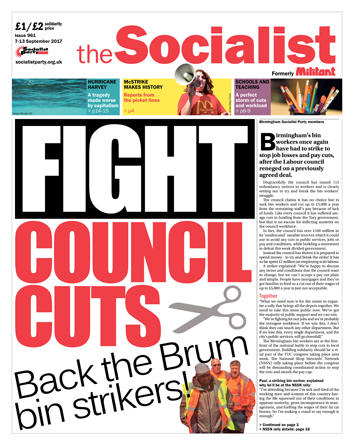 The Socialist issue 961 front page: Fight council cuts