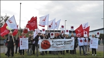 The day of the Sports Direct AGM, Sept 2017 , photo by Elaine Evans