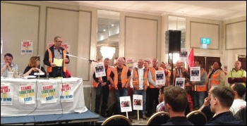 Birmingham bin worker Richie addressing the NSSN rally, 10.9.17