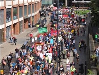 Anti-cuts protest, Bristol, 9.9.17, photo by Matt Carey