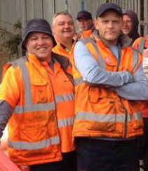 Birmingham bin strikers at the Digbeth picket