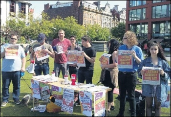 Young Socialists supporters out in Manchester, 2.9.17, photo by Becci Heagney