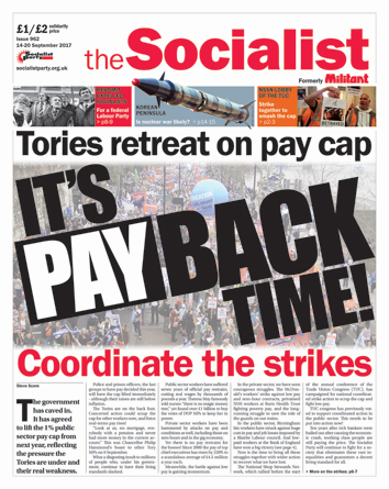 The Socialist issue 962 front page: It's 'pay-back' time!
