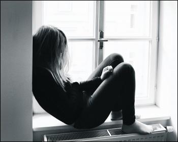 Depressed Girl Window
