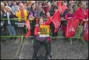 Tories Out demo, Manchester 1.10.17, photo Paul Mattsson