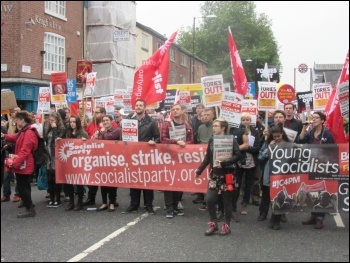 Young Socialists contingent, 1st October 2017, Manchester, photo Elaine Brunskill