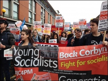 Young Socialists contingent, Tories Out demo, 1st October 2017, Manchester, photo by Judy Beishon