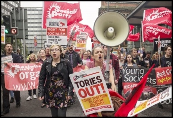 Young Socialists contingent, 1st October 2017, Manchester, photo Paul Mattsson